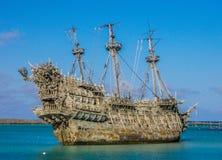 Lagune rejetée des bancs de sable de Disney de Néerlandais de vol Photos stock