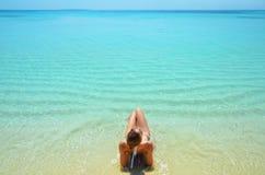 Lagune sans fin photographie stock libre de droits