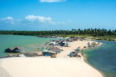 Lagune Tatajuba von oben genanntem in Brasilien Lizenzfreie Stockfotos