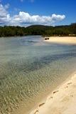 Lagune und Küstenlinie Stockbild