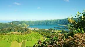 Lagune van de Zeven Steden, de Azoren stock fotografie