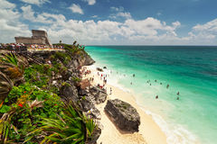 Lagune van het strand Tulum Royalty-vrije Stock Afbeeldingen