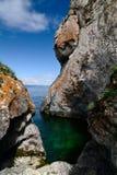 Lagune verte Photo stock