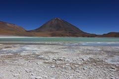 Lagune verte, Bolivie Image libre de droits