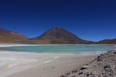Lagune verte, Bolivie Photos libres de droits