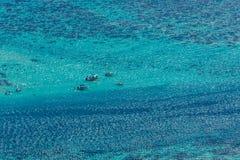 Lagune von moorea Insel lizenzfreie stockbilder