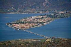 Lagune von Orbetello stockbild