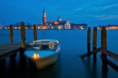 Lagunen av Venedig på skymningen Royaltyfri Foto