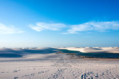 Lagunen in der Wüste, Brasilien Stockfotografie