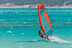 lagunen vindsurfar Royaltyfri Fotografi