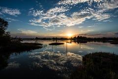 Lagunensonnenuntergang Stockfotografie