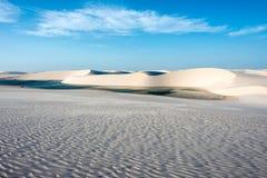 Lagunes in de woestijn, Brazilië royalty-vrije stock afbeelding