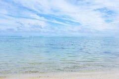 LagunseascapeRarotonga kock Islands Royaltyfri Fotografi