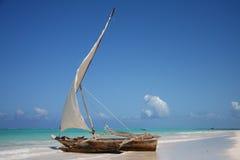 laguny łódkowaty żeglowanie Obraz Royalty Free
