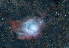 Laguny mgławica Messier 8 fotografia stock