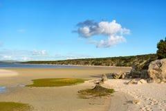 Laguny plaża w zmierzchu Obrazy Stock