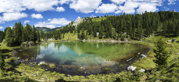 Lagusel Lake, Dolomiti - Italy Stock Photos