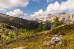 Laguzoi от Passo Falzarego Стоковое Изображение