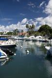 Lahaina-Hafen, Maui, Hawaii Stockfotos