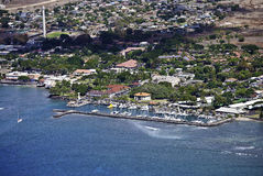 Lahaina Harbor Aerial Royalty Free Stock Photo
