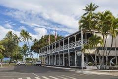 LAHAINA HI - JULI 14: Den banbrytande gästgivargården på Lahainaen, Maui wate Royaltyfria Foton