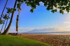 Lahaina Maui beach coastline view Royalty Free Stock Image