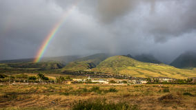 Lahaina Maui Rainbow Royalty Free Stock Photography
