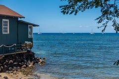 Lahaina łodzi krajobraz Obraz Royalty Free