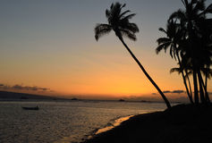 Lahaina Shore At Sunset. This is an image of the sunset at a beach in Royalty Free Stock Photography