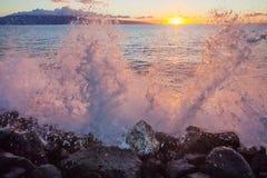 Lahaina solnedgång Fotografering för Bildbyråer