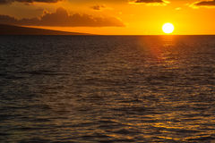 Lahaina Sunset Stock Photo