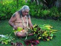Lahaina velho Laua - homem havaiano imagens de stock