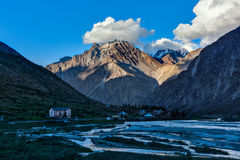 Lahaul valley in Himalayas on sunset Stock Images