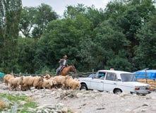 Lahic by i de Kaukasus bergen Fotografering för Bildbyråer