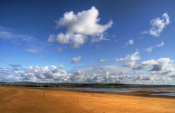Lahinch beach. Sunny day over Ireland - beach in Lahinch Royalty Free Stock Photography