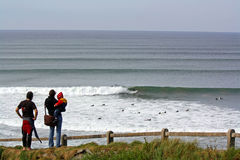 Lahinch surfant Photos stock