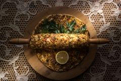 Lahmacun Турецкая пицца стоковые фото