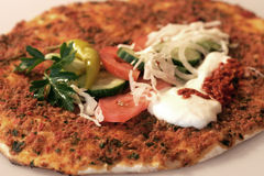 Lahmacun Royalty-vrije Stock Foto