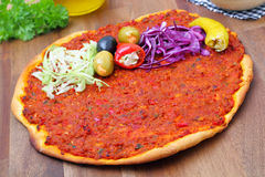 Lahmacun - pizza turkish style Stock Image