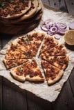 Lahmacun, turecka mięsna pizza Obrazy Royalty Free