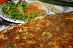 Lahmacun (Turkish food) Royalty Free Stock Photo