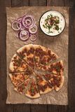 Lahmacun, turkish meat pizza Royalty Free Stock Images