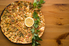 Lahmacun. Turkish pizza Stock Image