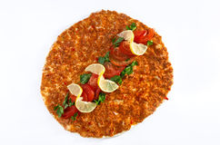 Lahmacun - Turkish pizza Royalty Free Stock Image
