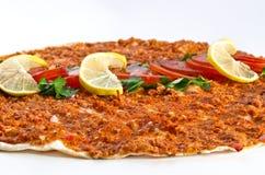 Lahmacun - Turkse pizza Royalty-vrije Stock Fotografie