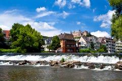 Lahn river in Marburg Stock Image