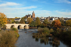 Lahn river in Wetzlar, Germany Royalty Free Stock Photo