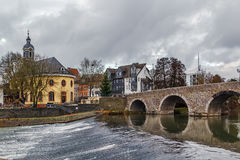Lahnbrug in Wetzlar, Duitsland Stock Foto's