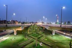 Lahore Flyovers Pakistan i ogródy zdjęcie stock