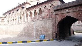 Lahore fort. Wall of lahore fort ,pakistan Royalty Free Stock Photo